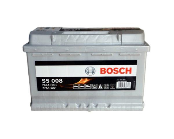 Купить аккумулятор в Воронеже Bosch S5 008 77 А/ч о.п.