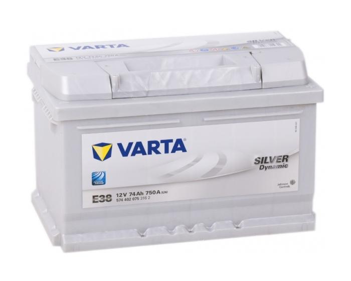 Купить аккумулятор в Воронеже Varta Silver Dynamic E38 74 А/ч о.п. низкий