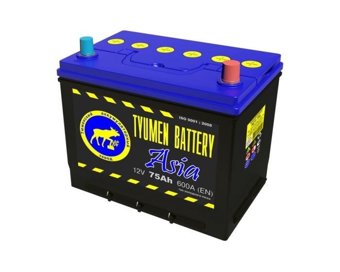 Купить аккумулятор Тюмень ASIA 75 Ач обратной полярности