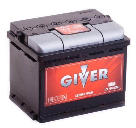 Купить аккумулятор Giver 60 А/ч в Воронеже