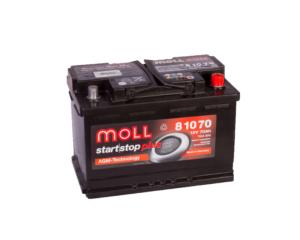 Купить аккумулятор MOLL AGM Start-Stop 70 А/ч в Воронеже