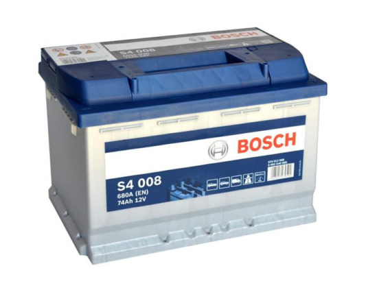 Купить аккумулятор в Воронеже Bosch S4 008 74 А/ч о.п.