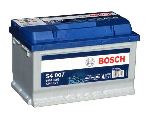 Купить аккумулятор на Опель, Форд в Воронеже Bosch S4 007 72 А/ч о.п. низкий