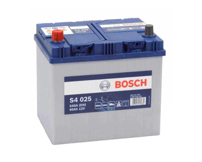 Купить аккумулятор в Воронеже Bosch S4 025 60 А/ч п.п. азиатский тип