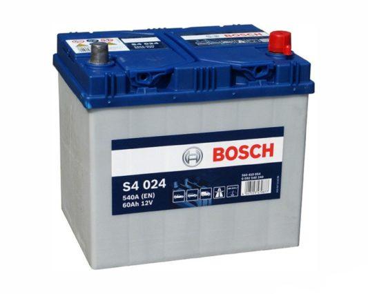 Купить авто аккумулятор в Воронеже Bosch S4 024 60 А/ч о.п. азиатский тип