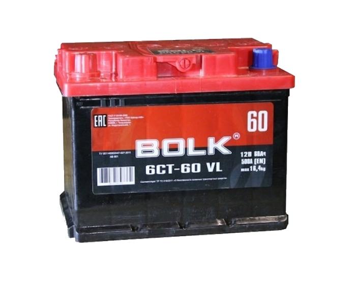 Купить аккумулятор Bolk 60 Ач прямой полярности в Воронеже