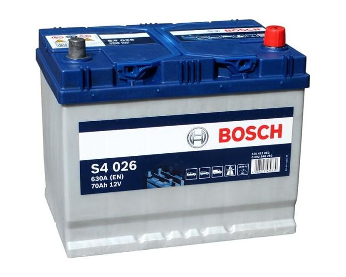 Купить автомобильный аккумулятор в Воронеже Bosch S4 026 70 А/ч о.п. азиатский тип