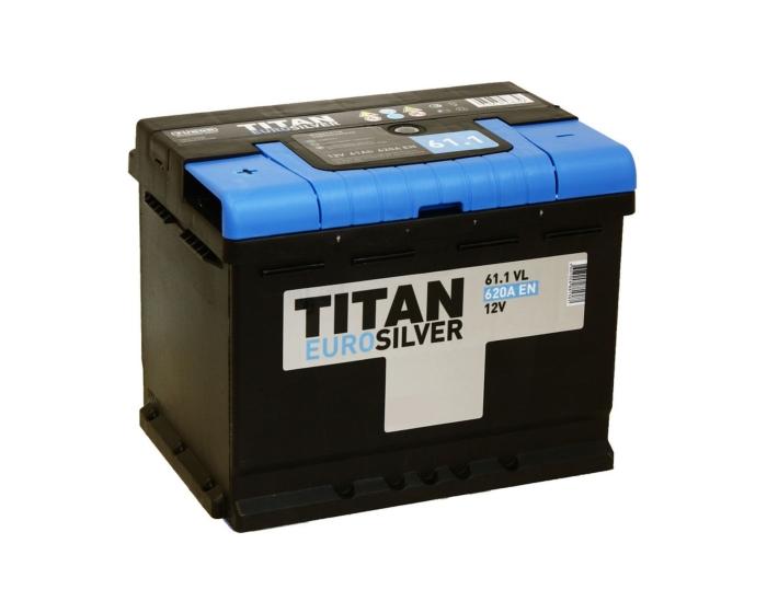 Купить аккумулятор Titan Euro Silver 61 Ач прямой полярности в Воронеже