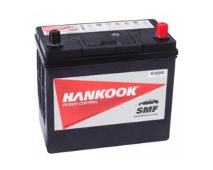 Купить аккумулятор Hankook 60B24L 48 Ач обратной полярности тонкие клеммы