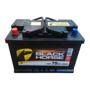 Купить аккумулятор в Воронеже Black Horse 75 А/ч прямая полярность