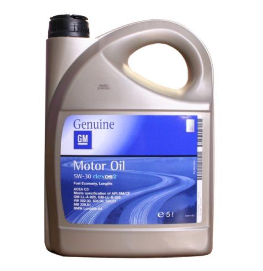 Моторное масло General Motors Dexos 2 5 л купить в Воронеже