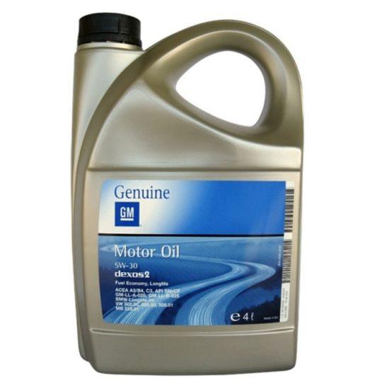 Купить General Motors Dexos 2 5W30 4 л. оригинальное моторное масло в Воронеже