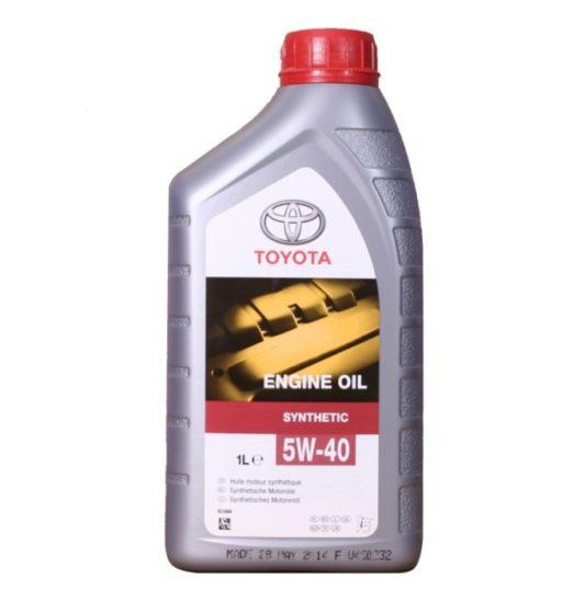 Купить оригинальное моторное масло Toyota 5W40 синтетика 1 л в Воронеже