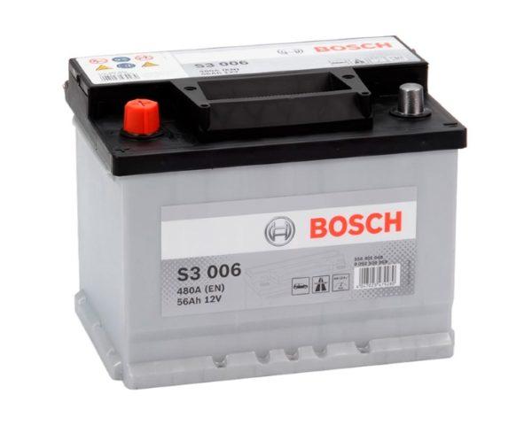 Купить аккумулятор Bosch S3 006 56 А/ч п.п. в Воронеже