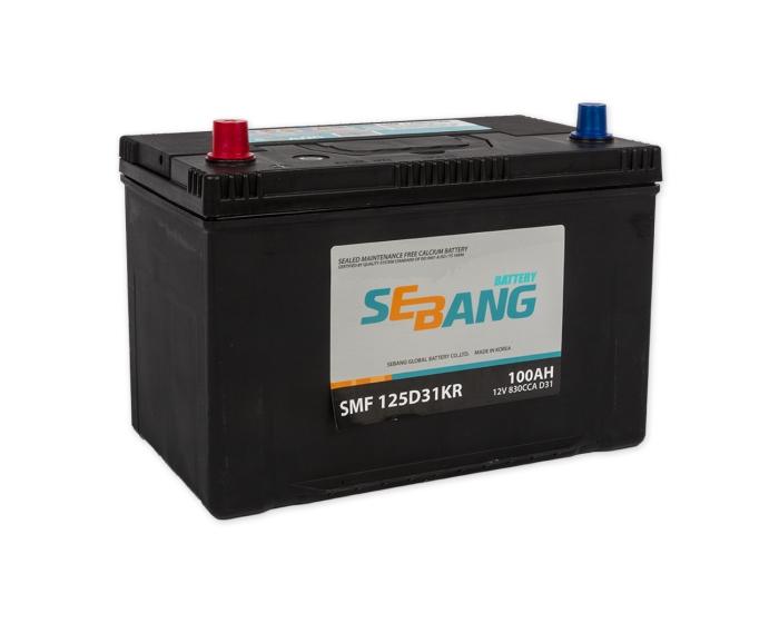 Купить корейский аккумулятор Sebang SMF 125D31KR 100 А/ч в Воронеже