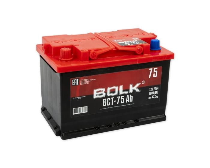 Купить аккумулятор для автомобиля в Воронеже Bolk 75 А/ч прямая полярность