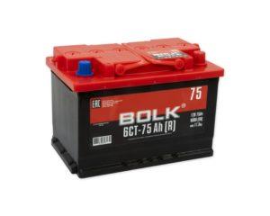 Купить АКБ Bolk 75 А/ч обратная полярность в Воронеже