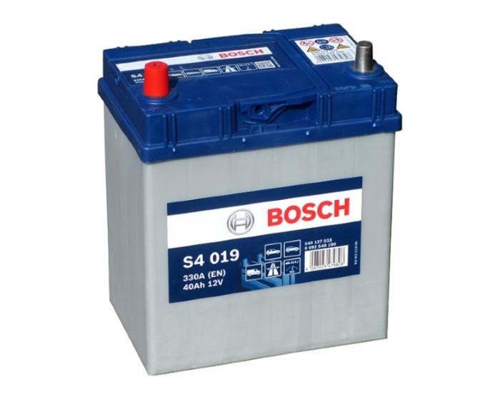 Купить авто аккумулятор в Воронеже Bosch S4 019 40 А/ч п.п. азиатский тип