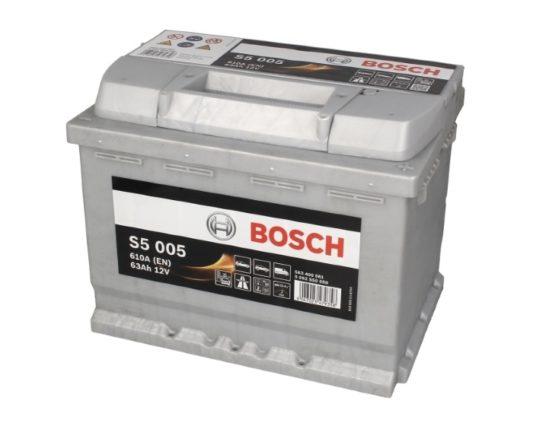 Купить аккумулятор для автомобиля в Воронеже BOSCH S5 005 63 А/ч о.п.