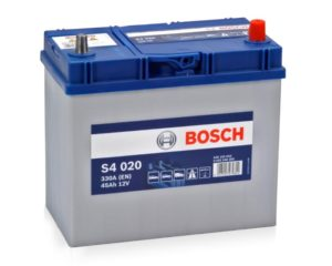 Купить аккумулятор автомобильный в Воронеже Bosch S4 020 45 А/ч о.п. тонкие клеммы