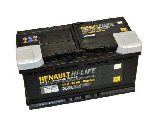 Оригинальный аккумулятор Renault Standart 7711423286 95 А/ч купить в Воронеже