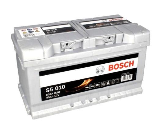 Купить автомобильный аккумулятор в Воронеже Bosch S5 010 85 А/ч о.п. низкий