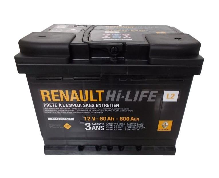 Оригинальный аккумулятор Renault Standard 7711238597