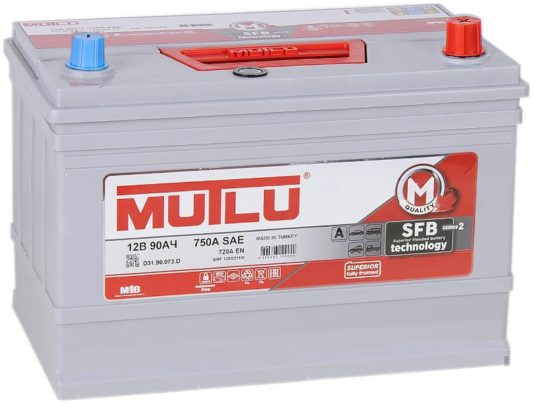 Mutlu Calcium Silver D31.90.072.C 90 А/ч купить в Воронеже АКБ