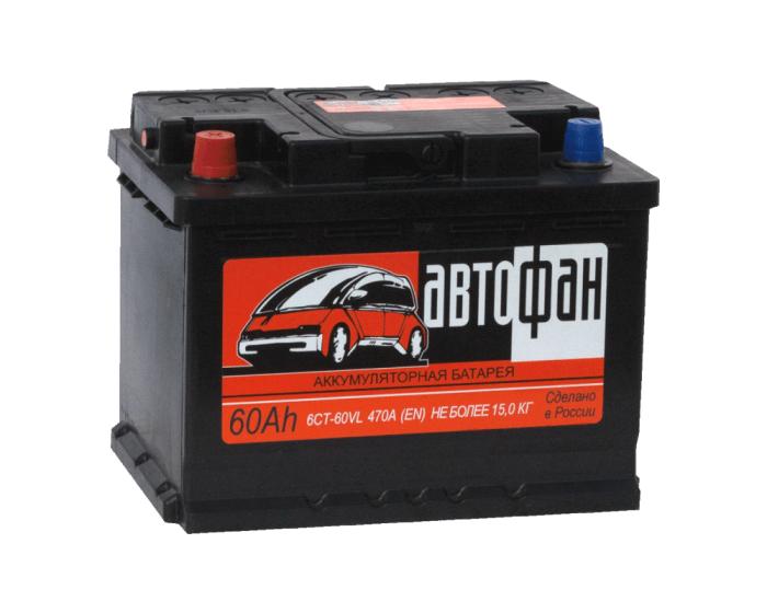 Аккумулятор дешевый Автофан (Аком) 60 А/ч купить в Воронеже