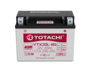 Аккумулятор для мотоцикла Totachi Moto YTX20L-BS 20 А/ч купить в Воронеже