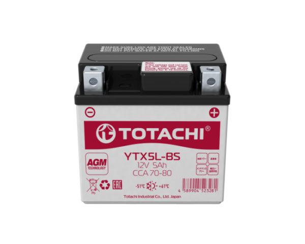 Купить мото аккумулятор в Воронеже Totachi Moto YTX5L-BS 5 А/ч