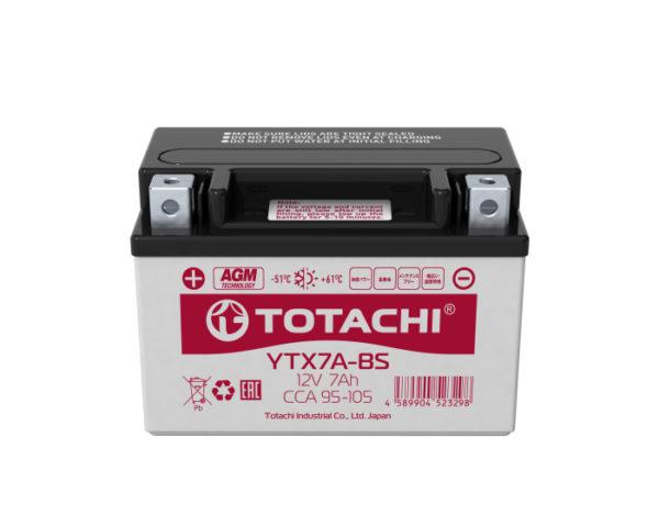 Японский аккумулятор для мотоцикла купить в Воронеже Totachi Moto YTX7A-BS 7 А/ч