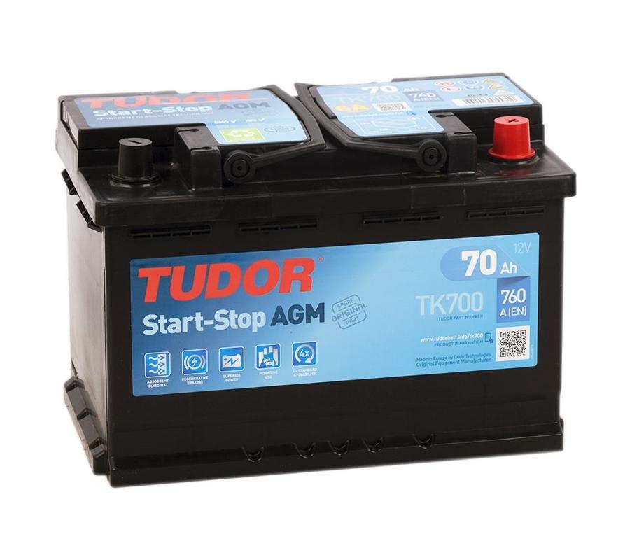 Купить аккумулятор Tudor TK700 AGM Start-Stop 70 А/ч в Воронеже