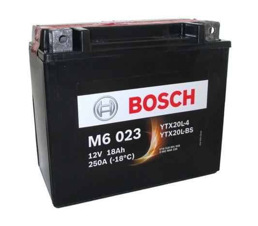 Аккумулятор для квадроцикла купить в Воронеже Bosch M6 023 YTX20L-BS AGM 18 А/ч