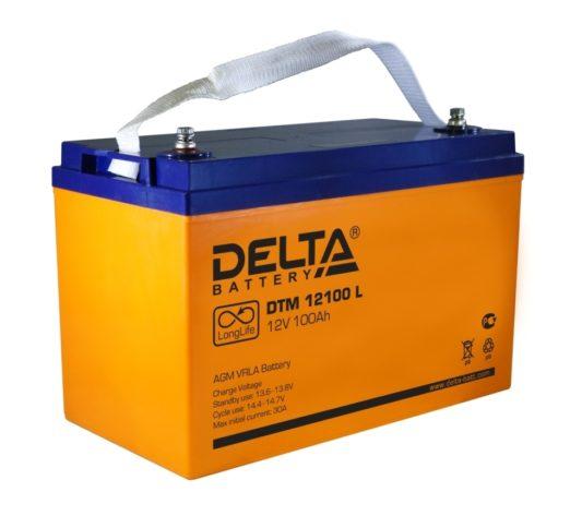 Аккумулятор для ИБП, котла в Воронеже Delta DTM 12100 L 100 А/ч