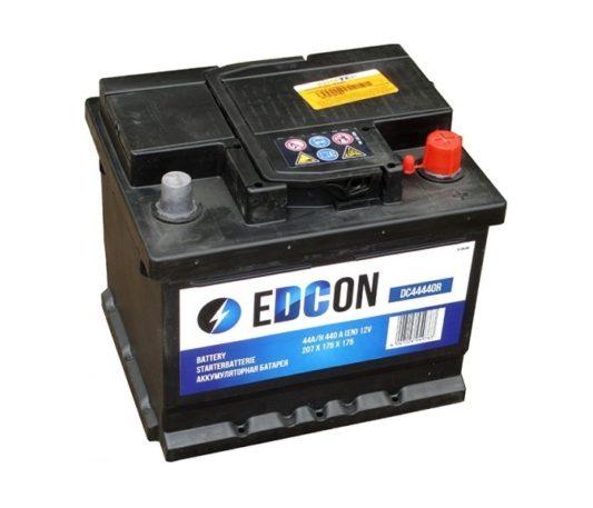 Купить аккумулятор на автомобиль в Воронеже Edcon DC44440R 44 А/ч обратный низкий