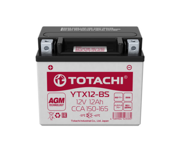 Купить аккумулятор для мотоцикла в Воронеже Totachi Moto YTX12-BS 12 А/ч