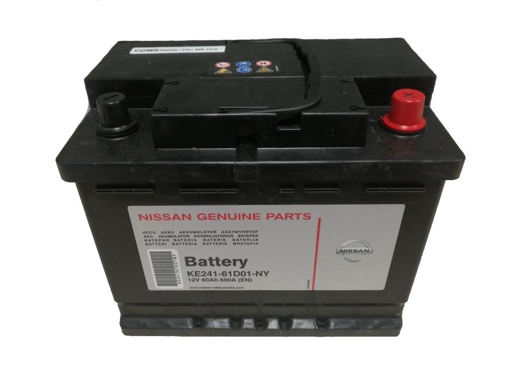 Оригинальный аккумулятор Nissan KE24161D01NY 60 А/ч купить в Воронеже