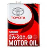 Оригинальное моторное масло Toyota 0W20 4 л. 08880-12205