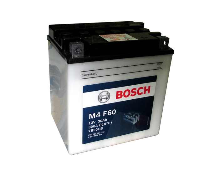 Аккумулятор для мотоцикла купить в Воронеде Bosch M4 F60 YB30L-B 30 А/ч о.п. с/з с элек.