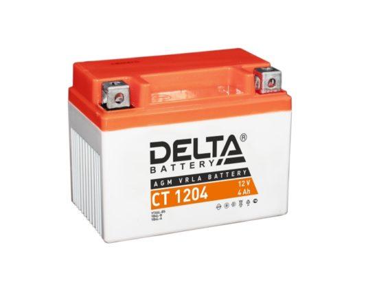 Аккумулятор для мотоцикла DELTA CT 1204 AGM 4 А/ч купить в Воронеже