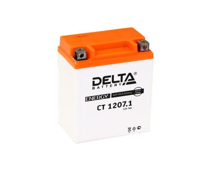 Мото аккумулятор DELTA CT 1207.1 AGM 7 А/ч купить в Воронеже