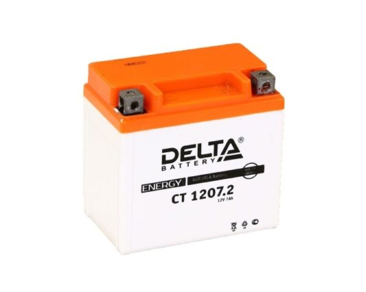 Аккумулятор для мотоцикла купить в Воронеже DELTA CT 12072 AGM 7 А/ч