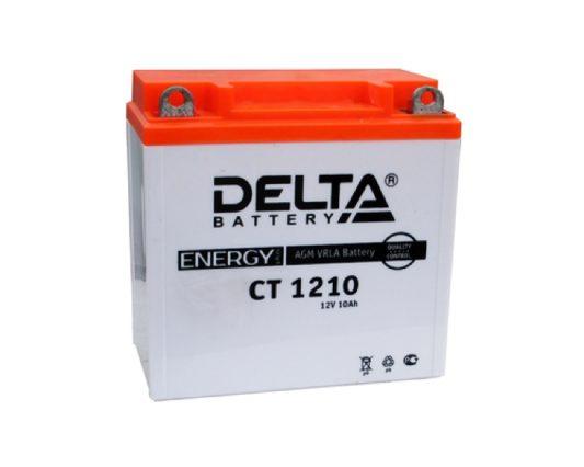 Аккумулятор для мотоцикла купить в Воронеже DELTA CT 1210 AGM 10 А/ч