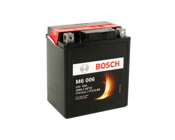 Мото аккумулятор купить в Воронеже Bosch M6 006 YTX7L-BS AGM 6 А/ч о.п.