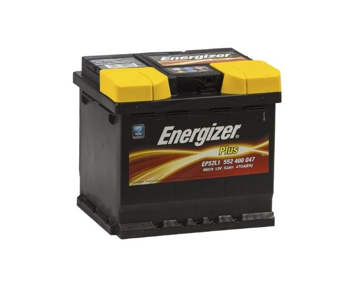 Автомобильный аккумулятор Energizer Plus 52 А/ч