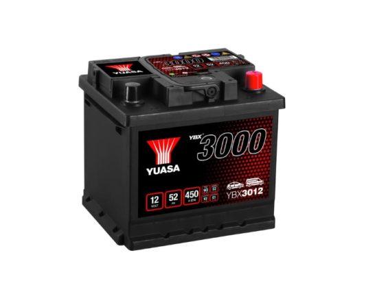 Автомобильный аккумулятор в Воронеже Yuasa YBX3012 52 А/ч о.п.