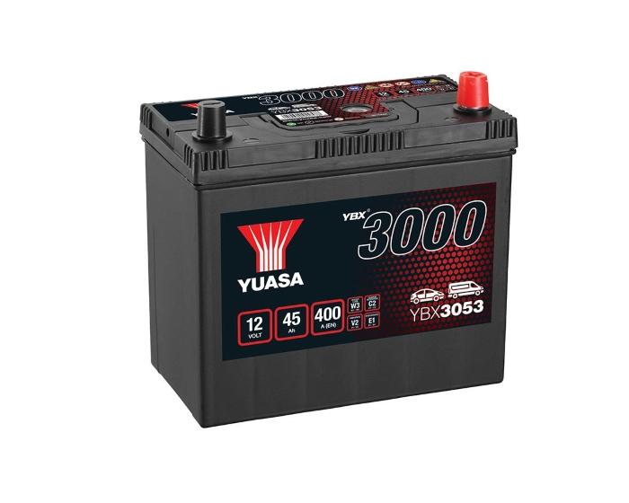 Автомобильный аккумулятор Yuasa YBX3053 45 А/ч в Воронеже купить