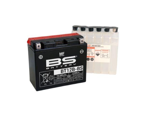 Аккумулятор для мотоциклов BS Battery BT12B-BS (YT12B-BS) AGM 10 А/ч в Воронеже купить