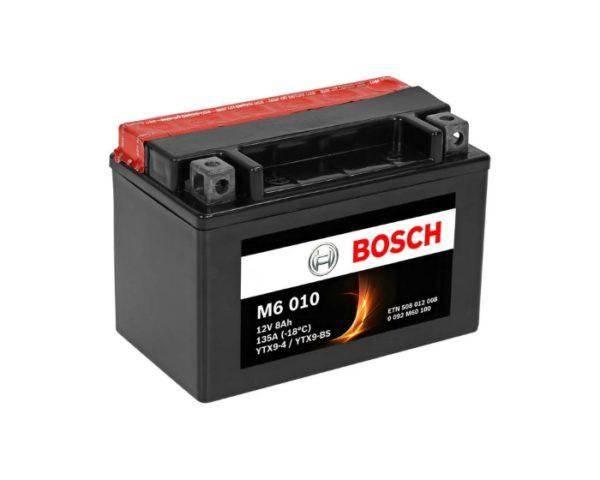 Мото аккумулятор Bosch M6 010 YTX9-BS 8 А/ч в Воронеже купить